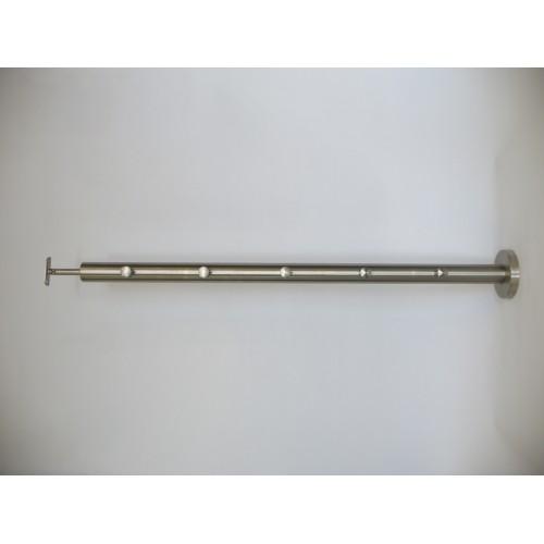 Słupek nierdzewny INOX system przelotowy 5x fi 12mm H-980 mm